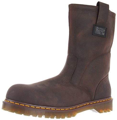 Men's Dr. Martens 10'' Volcano Steel Toe Wellington Boots Gaucho, GAUCHO, UK5/US6 MENS by Dr. Martens