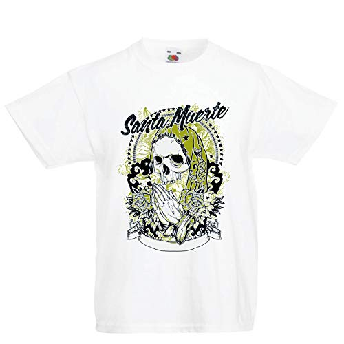 lepni.me Kids T-Shirt Our Lady of Holy Death - Santa Muerte (1-2 Years White Multi Color) -