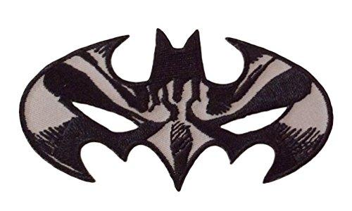 DC Comics Batman Mask Black and White Logo Patch