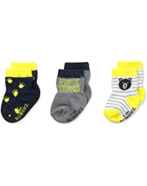Big Boys' Mini Hugs Socks-3 Pack