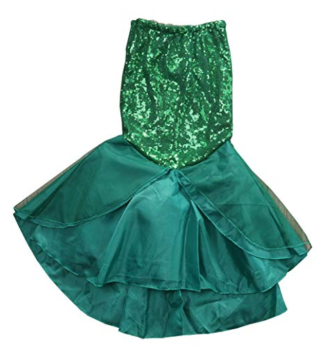 Kids Girls Mermaid Costume Fancy Party Dresses Tail Skirt