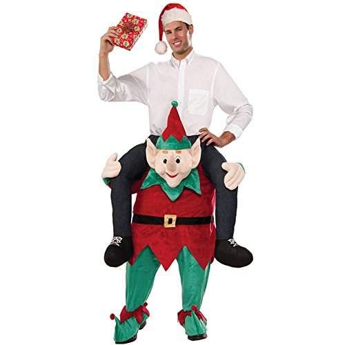 Mens Oktoberfest Costume Shoulder Carry On Piggy Back Ride Me Party (Elf)