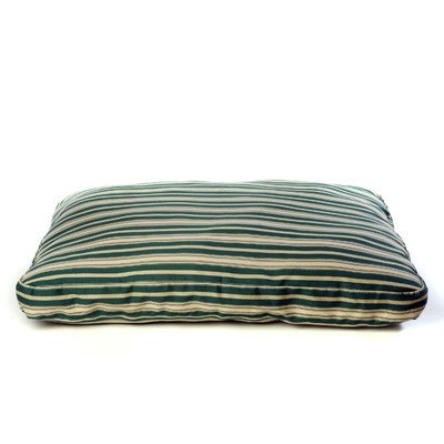 Indoor/Outdoor Striped Dog Bed in Green Size: X-Large