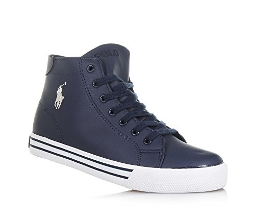 Navy ton sur Polo Logo À Ralph Lauren Marine Lacets Bleu Latéral Sneaker Garçons Ton RROSqw6