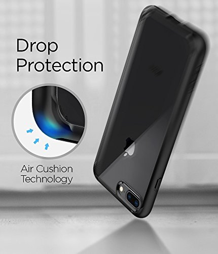 Spigen Ultra Hybrid [2nd Generation] iPhone 7 Plus Case/iPhone 8 Plus Case with Clear Backing and Air Cushion Technology for iPhone 7 Plus (2016)/iPhone 8 Plus (2017) - Black by Spigen (Image #7)