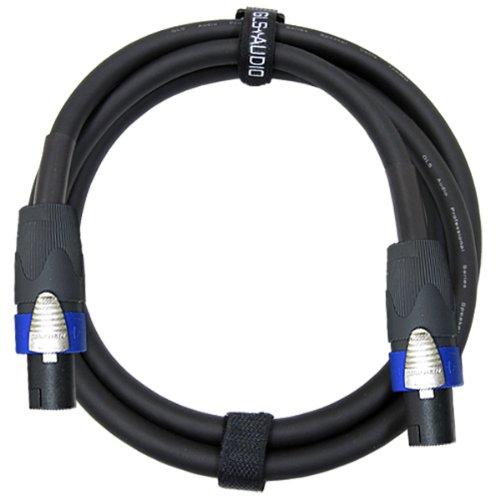 - GLS Audio 6 feet Speaker Cable 12AWG Patch Cords - 6 ft Speakon to Speakon Professional Cables Black Neutrik NL4FX (NL4FC) 12 Gauge Wire - Pro 6' Speak-on Cord 12G - Single