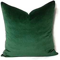 "18x18"" Luxury Green Moss Emerald Green Velvet Forest Green Cushion Cover Pillow Case Lumber Pillow Case Hunter Green Velvet"