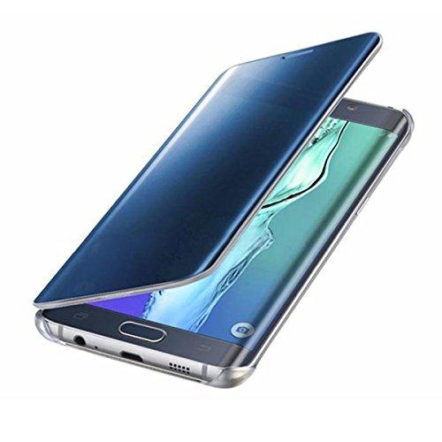 Hovisi Luxurious Shiny Flip Case cover Samsung Galaxy S7 Edge (Blue)