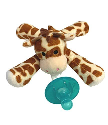 Artisan Trade & Co. - Soft Plush Animal - Infant Silicone Pacifier - Giraffe - Boys and Girls ()
