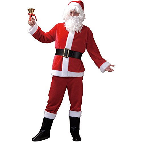 Santa Claus Adult Men's Halloween Dress Up Theme Party Cosplay Costume (Medium)