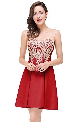 Abendkleid rot lang 46