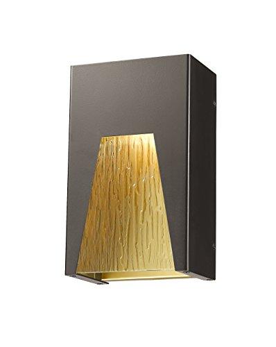 Z-Lite 561S-DBZ-GD-CSL-LED 1 Outdoor Wall Light 1 (Gd 1 Light Outdoor Fixture)