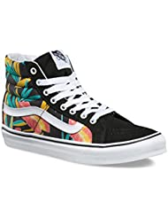 VANS SK8-HI SLIM (Tropical Leaves) Black, Mens 5.5, Womens 7 US