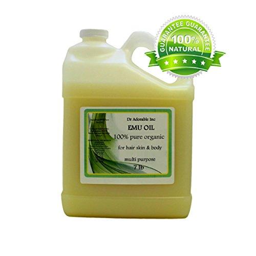 Australian Emu Oil by Dr. Adorable Triple Refined Organic 100% Pure 128 Oz/ 7 Lb/One Gallon