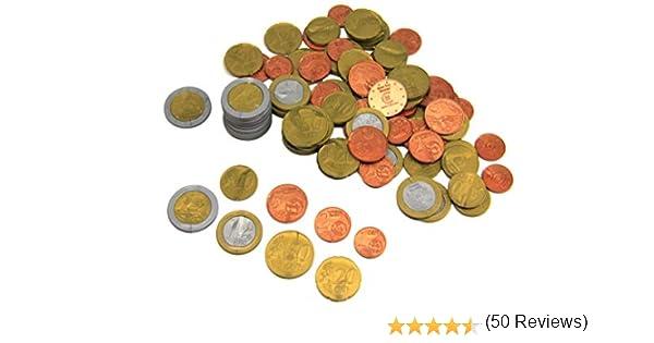 WISSNER aktiv lernen-160 EURO Rechengeld Münzen Monedas de 160 euros-RE-Plastic, multicolor (080610.160) , color/modelo surtido: Amazon.es: Juguetes y juegos