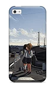 Durable Brunettes Cityscapes School Uniforms Kissing Yuri Scenic Bike Shorts Anime Skyscapes Back Case/cover For Iphone 5c