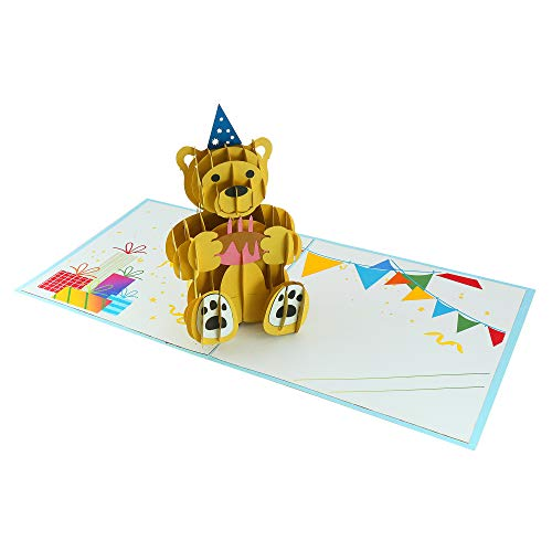 3D Card - Bear Birthday, Popup Cards, Anniversary Card, Thank You Cards, Birthday Cards, greeting cards for every occasion (Gay Holiday Cards)