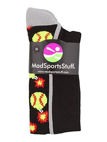 MadSportsStuff Softball Bomber Over the Calf Socks (Royal/White, Large by MadSportsStuff (Image #1)