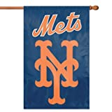 Cheap MLB – New York Mets 2-Sided Applique Banner Flag