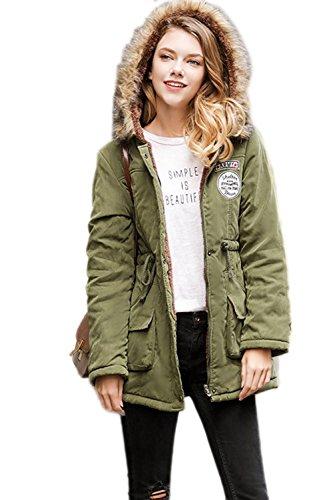 Espesar Amygreen sudaderas Abrigo con chaqueta Parka de las YACUN de Mujeres invierno capucha 17OYnY