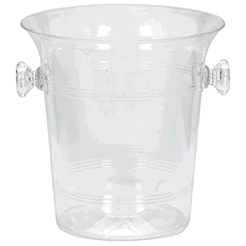 amscan Clear Ice Bucket with Knob Handles | 12 Ct.