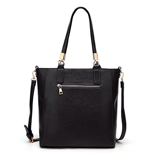 Auspicious Floral Women black Bag Handbag Shoulder Office Hollow Tote Out Cut beginning Vintage rCqpxwt4r