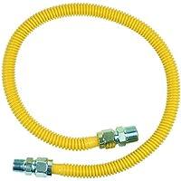 BrassCraft Mfg 3/4 In. MIP x 1/2 In. MIP x 36 In. ProCoat Gas Appliance Connector 5/8 In. OD (125,000 BTU) by BrassCraft Mfg
