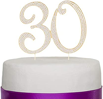 Brilliant Number 30 Cake Topper For 30Th Birthday Or Anniversary Silver Personalised Birthday Cards Cominlily Jamesorg
