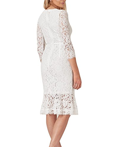 Dress Bodycon Business Ssyiz Custom Women's Asymmetrical Official White Pencil xFqSX0qU