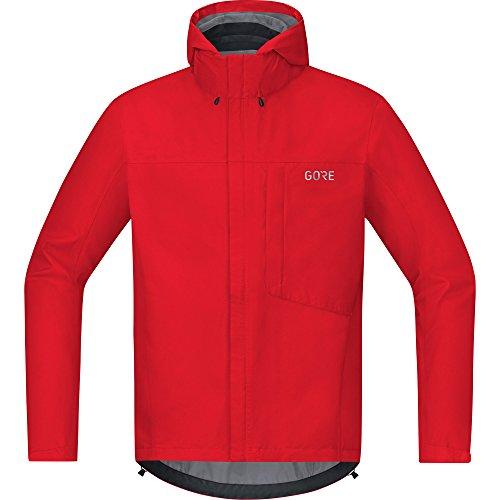Gore Wear Men's Waterproof Hooded Bike Jacket, C3 TEX Paclite Hooded Jacket, Size: M, Color red, 100036 by Gore Wear