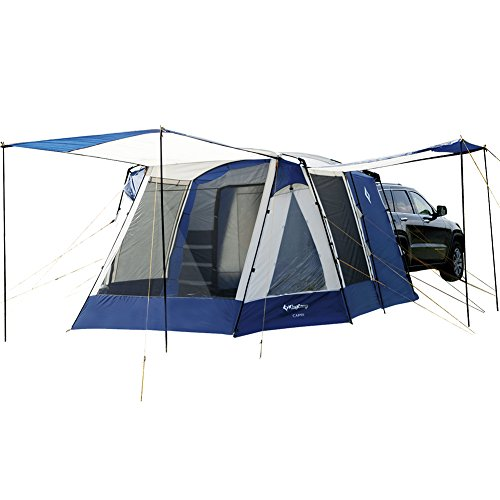 KingCamp Melfi Plus 3 Season 5 Person Multifunctional SUV Car Tent (Blue 2 Room (Front Screen Room))