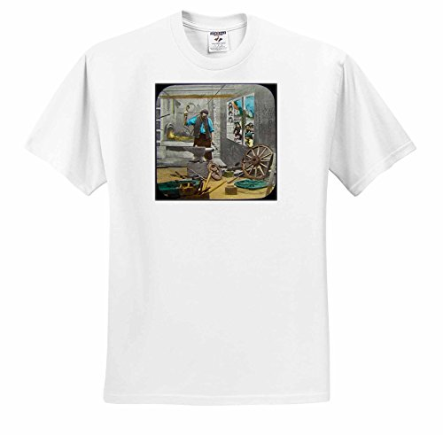 1890 Victorian Antique - Scenes from the Past Magic Lantern - Victorian Tale The Village Blacksmith No. 4 Vintage 1890 Antique - T-Shirts - Adult T-Shirt XL (ts_246165_4)