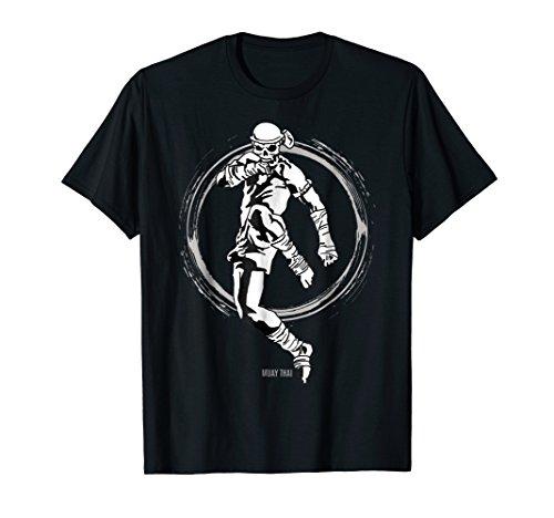 Muay Thai Skeleton Kickboxing Boxer MMA Martial Arts T-Shirt ()