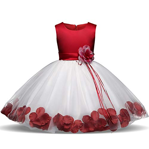 Flower Girl Dresses for Wedding Girl Party Dress Costume for Kids School Girls Graduation Gowns Children,As Photo9,10 ()