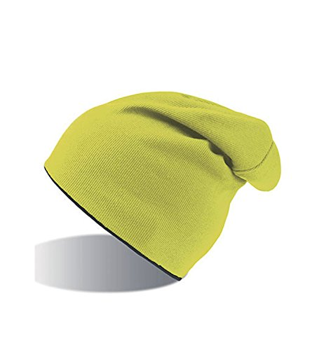 Hombre Gorro XL 2 Beanie Reversible Mujer Yellow Jersey Fluo y Colores Black q8gwqTOr