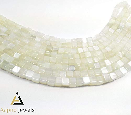 1 Strand Natural White Moonstone Loose Beads Strand, 5-7mm 8 Inch Smooth Cube Box White Moonstone Beads, White Moonstone Beads Necklace, Jewelry Making Moonstone Beads, Knotted Moonstone Necklace