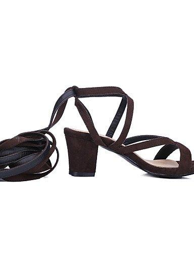 LFNLYX Chaussures Femme-Décontracté-Noir / Bleu / Marron-Talon Aiguille-Talons / Bout Ouvert-Sandales-Daim , blue , us6 / eu36 / uk4 / cn36