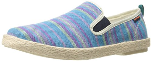 Hush Puppies Mens Blu Yahman Slip-on Mocassino In Tessuto A Strisce Blu