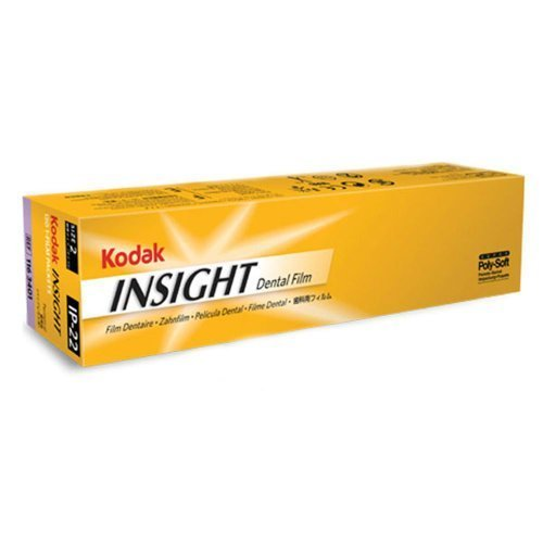 Kodak 1798628 IP-22 Insight Poly-Soft Ultra-Speed Double Dental Film, Size 2 (Pack of 130)