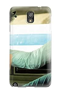 Galaxy Cover Case - A Boy In White In A White Car Protective Case Compatibel With Galaxy Note 3