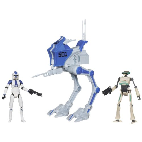 Star Wars Deluxe Vehicle 501st Legion AT-RT with ARF Trooper & TX-21 Tactical Droid]()