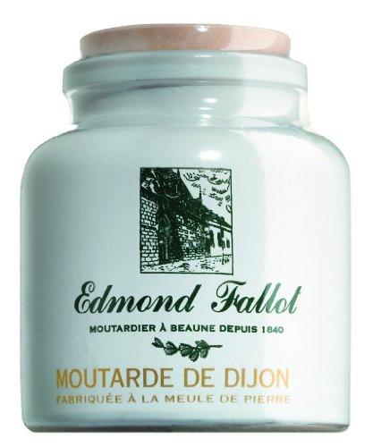 Fallot French Dijon Old Fashioned Grain Mustard in Stone Jar Crock 9 oz