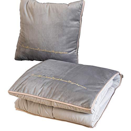 (Weil Manky Throw Pillow, Comfy Couch Pillow, Throw Sofa Couch Pillow, Comfortable Throw Pillow, Italian Velvet Luxury Toss Pillow Blanket, Gift for Men, Women, Grandparents (18 x18 Inch, Grey))