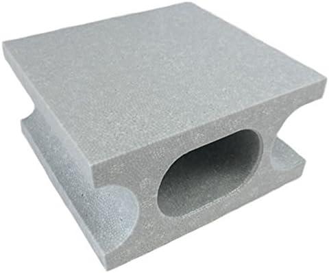 スチロールブロックハーフ グレー W100×H190×D190