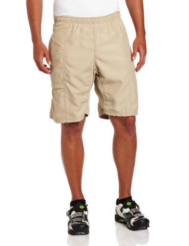 Canari Men's Cyclewear Canyon Gel Baggy Shorts, Khaki, X-Lar