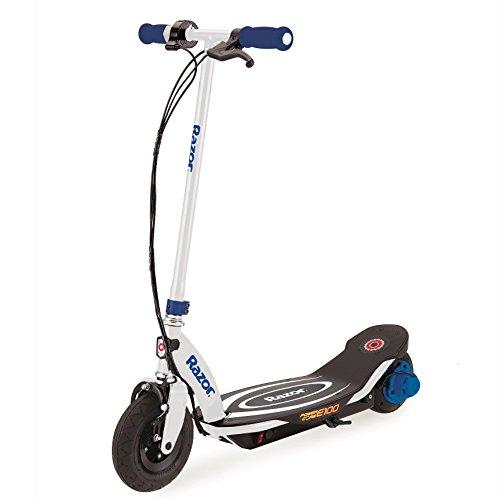 Razor Power Core E100 Electric Hub Motor Kids Toy Motorized Kick Scooter, Blue