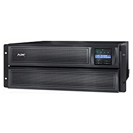 APC UPS, 3000VA Smart-UPS Sine Wave, Short Depth UPS Battery Backup with Extended Run Option, Network Management Card, 4U Rack/Tower Convertible, Line-Interactive, 120V (SMX3000LVNC) 5 3000 VA/2700 W - 120 V AC - 6 minute stand-by time - 4U rack/tower - 6, 1, 3 x NEMA 5-20R, NEMA L5-30R, NEMA 5-15R Experience higher efficiency with lower energy cost Keep your sensitive devices powered with a backup of up to 6 minute at full load