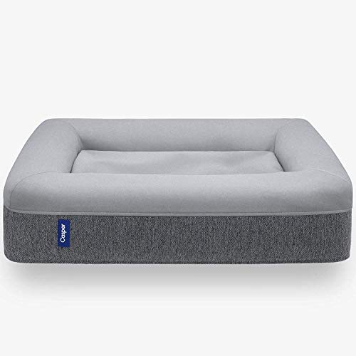 Casper Dog Bed, Plush Memory Foam, Medium, Gray