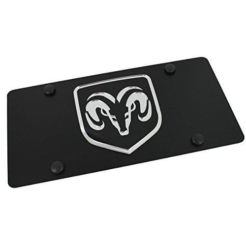 Dodge Ram framed License Plate on Black Steel - Framed Badge
