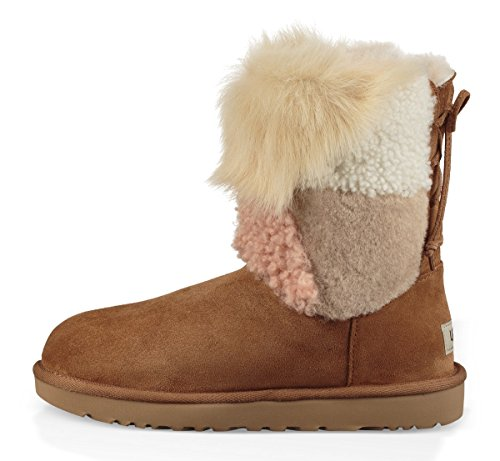 UGG Beige Stivales Charm Patch Classic Fluff Fq11pdrw